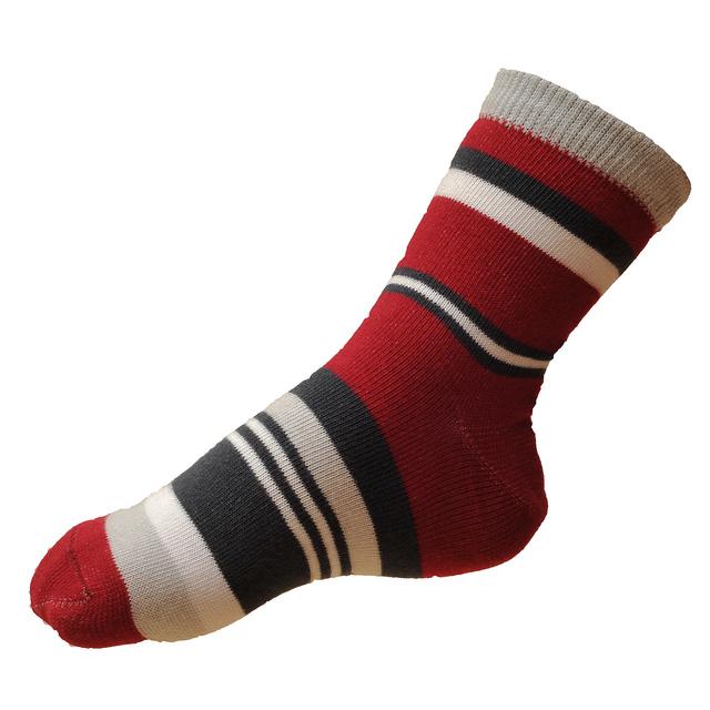 Dětské moderní ponožky červené pruhované