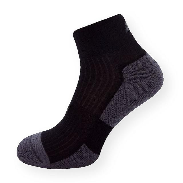 Bambusové kotníčkové ponožky černo-šedé