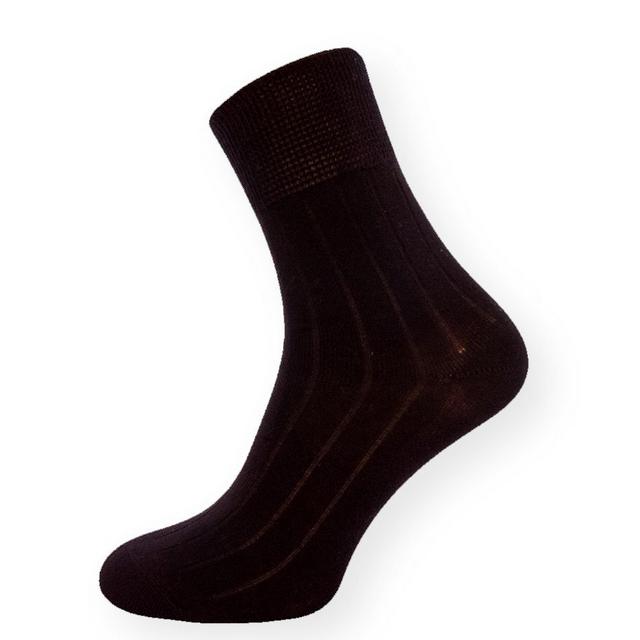 Fusky.cz   Detail produktu Klasické černé ponožky se zdravotním lemem 645d6ee14b