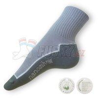 Ponožky Nanosilver sportovní šedé