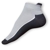 Kotníkové ponožky šedočerné