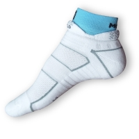 Běžecké ponožky Moira bílomodré PO/RU