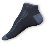 Kotníkové ponožky černošedé