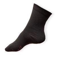 Tmavě šedé tenké ponožky nejen pro diabetiky s otoky nohou Agiva AT 08