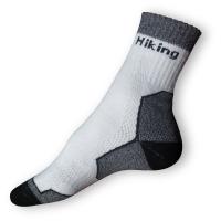 Treking ponožky bílošedé
