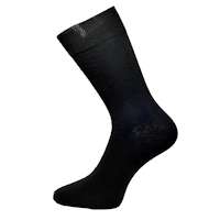 Luxusní hladké černé společenské ponožky 98% bavlna