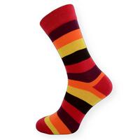 Dámské ponožky barevné pruhy