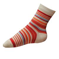 Dívčí ponožky červené pruhované