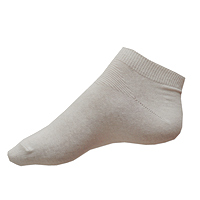 Bílé nízké kotníčkové ponožky