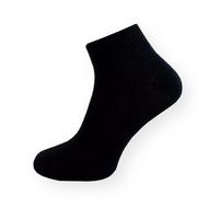 Tenké černé kotníčkové ponožky