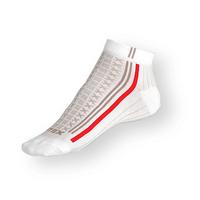Nízké ponožky Litex bílé s antibakteriálním stříbrem