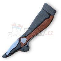 Lyžařské ponožky Texpon Merino stříbro