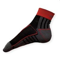 Cyklo ponožky Moira PO/CK šedo-červené