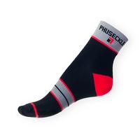 Ponožky Phuseckle Sportline černo-červené