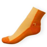 Ponožky Phuseckle Streetline oranžovo-žluté půlené