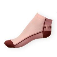 Kotníkové ponožky Phuseckle Summerline vínovo-růžové půlené