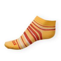 Dámské kotníkové ponožky Phuseckle Summerline žluto-červené pruhy