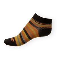 Dámské ponožky Phuseckle Summerline černo-žluto-oranžové pruhy