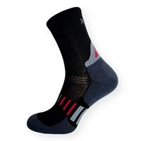 Funkční sportovní ponožky se stříbrem černo-šedé
