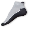 Kotníkové ponožky šedočerné - zobrazit detail zboží