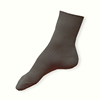 Světle šedé ponožky ze 100% bavlny žebrované