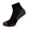 Bambusové kotníčkové ponožky černo-šedé - zobrazit detail zboží