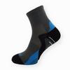 Bambusové sportovní ponožky tmavě šedé-modré - zobrazit detail zboží