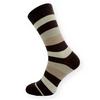 Dámské ponožky hnědé pruhy