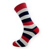 Dámské ponožky modré pruhy - zobrazit detail zboží