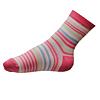 Dívčí ponožky růžové pruhované