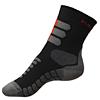 Nanosilver ponožky se stříbrem na treking šedo-černé-červené - zobrazit detail zboží