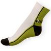 Ponožky Phuseckle Streetline zeleno-bílé půlené - zobrazit detail zboží