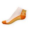 Kotníkové ponožky Phuseckle Summerline žluto-bílé půlené