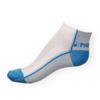 Kotníkové ponožky Phuseckle Summerline modro-bílé půlené - zobrazit detail zboží