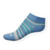 Dámské kotníkové ponožky Phuseckle Summerline modro-bílé pruhy - zobrazit detail zboží