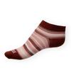 Dámské kotníkové ponožky Phuseckle Summerline vínovo-bílé pruhy - zobrazit detail zboží