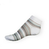 Dámské kotníkové ponožky Phuseckle Summerline bílo-šedé pruhy - zobrazit detail zboží