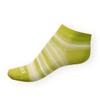 Dámské kotníkové ponožky Phuseckle Summerline zeleno-bílé pruhy - zobrazit detail zboží