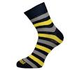 Pánské ponožky se širšími modro-žluto-šedými pruhy - zobrazit detail zboží