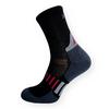 Funkční sportovní ponožky se stříbrem černo-šedé - zobrazit detail zboží