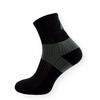Černé sportovní ponožky s bandáží na kotníku - zobrazit detail zboží